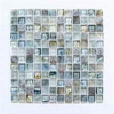 Fliesen Mosaik Küche - fliesen mosaik mosaikfliese glas gl 228 nzend grau k 252 che