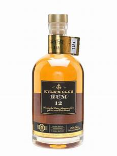 kyle s club rum 12 year lot 12668 whisky auction