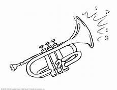 trumpet coloring pages kidsuki