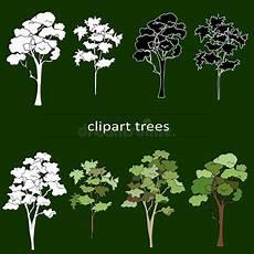 clipart alberi siluette degli alberi senza fogli illustrazione