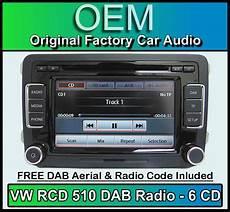 vw caddy dab car stereo rcd 510 dab radio 6 cd changer