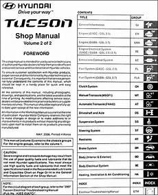 service repair manual free download 2011 hyundai tucson user handbook 2007 hyundai tucson repair shop manual 2 volume set original