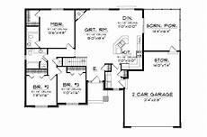 ranch house plans open floor plan higgens traditional ranch home plan 051d 0674 house