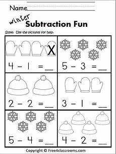 subtraction lesson worksheets 10156 free winter subtraction kindergarten with images kindergarten subtraction worksheets