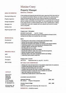 resume sumary property manager property manager resume exle sle template
