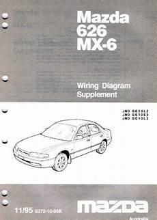 Mazda 626 Mx6 Ge Wiring Diagrams 11 1995 On Factory