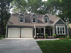 gauntlet gray and white dove house paint exterior grey exterior house colors exterior paint
