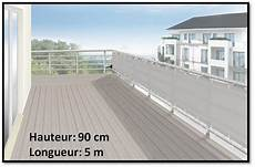 brise vue en toile pour balcons couleur gris clair 90x500