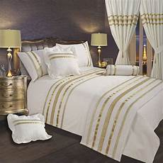 White And Gold Duvet Cover by White Gold Ribbon 200 Thread Count Cotton