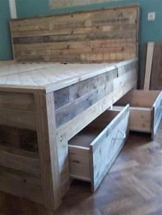 Paletten Bett Tutorial Built In Schubladen Unter Dem