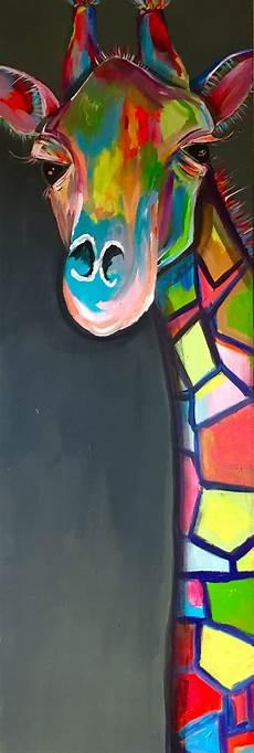 Bilder Zum Nachmalen Acryl Bunte Giraffe Ganz Gross Acryl Malerei Inspiration