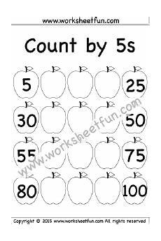 skip counting by 5 worksheets for kindergarten 12018 count by 5s 1 worksheet free kindergarten worksheets kindergarten worksheets free