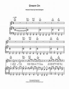 dream on sheet music by noel gallagher piano vocal guitar right hand melody 113830