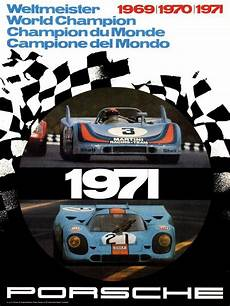 poster by atelier strenger porsche world chion 1971
