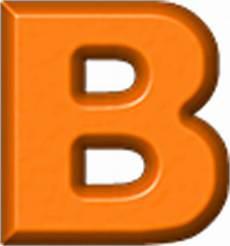 b orange presentation alphabets orange refrigerator magnet b