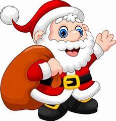 santa claus waving and carrying