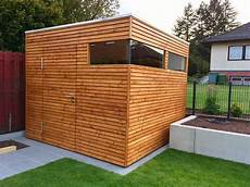 Gartenhaus Im Modernen Design Aus Holz In Form Eines Kubus