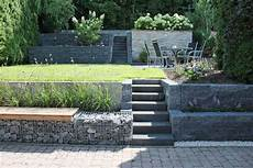 Gartengestaltung Hanglage Gabionen Suche Sloped