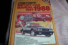 what is the best auto repair manual 1988 audi 5000cs spare parts catalogs chilton s import car repair manual hardcover edition 1981 1988 ebay