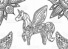 Einhorn Ausmalbild Mandala Einhorn Mit Mandala Und Paisley Ornament Horizontale