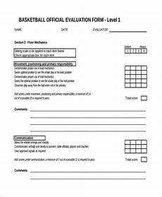 free 9 basketball evaluation form sles in sle exle format