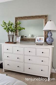 Bedroom Dresser With Mirror Decor Ideas by Ten June Put A Trim On It A Lshade Makeover