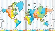 el mapa de los husos horarios microsiervos mundoreal