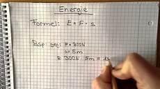 physik energie berechnen die formel