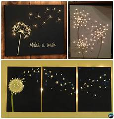 diy string light backlit canvas art ideas crafts diy art projects canvas diy canvas