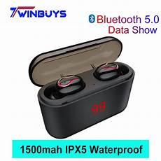 Digital Display Wireless Stereo Headphone Waterproof wireless bluetooth 5 0 earphones headphones with digital