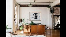 interior design industrial loft with boho decor youtube