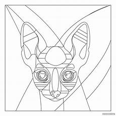 printable stained glass cat patterns printabler