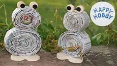 Frosch Basteln Aus Zeitungspapier Holz Und Filz