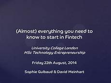 almost everything you need to almost everything you need to to start in fintech