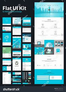 one page website design template all stockvector 194781974