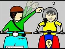 Animasi Orang Pakai Helm