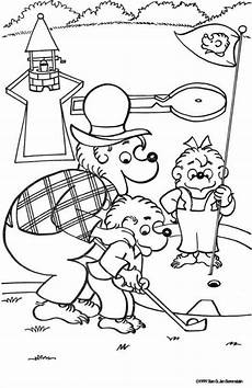 mini golf berenstain bears colouring in pages