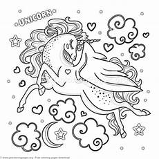 Malvorlagen Unicorn Yellow Unicorn Coloring Pages Printable Getcoloringpages Org
