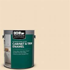 behr premium 1 gal 22 navajo white gloss enamel interior cabinet and trim paint 712001