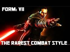 what were the 7 lightsaber combat forms jedi sith used star wars unknown 5 youtube