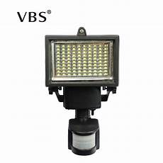 super bright 100 led natural white outdoor floodlight pir