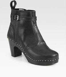 swedish hasbeens jodhpur leather ankle boots in black lyst