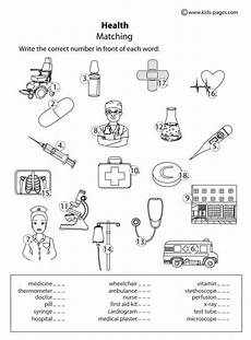 sports health worksheets 15805 pages health matching b w with images aid for worksheets for health
