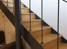 escalier bois droit escalier droit en m 233 tal et bois proven 231 al atmos fer