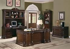 traditional carved desk furnishing elegant wood home