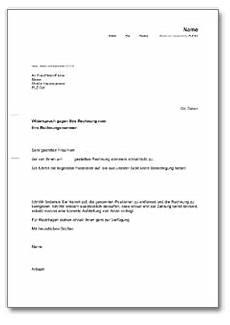 widerspruch rechnung de musterbrief
