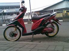 Modifikasi Beat Lama by Top Modifikasi Motor Beat Warna Merah Terbaru Modifikasi