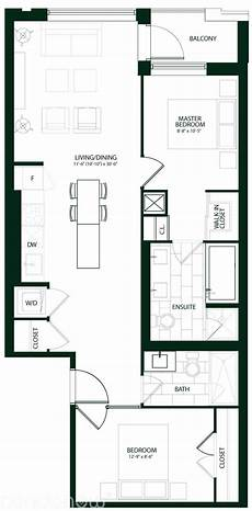 condominium house plans the upper house condos by kcap laird c310 floorplan 2 bed