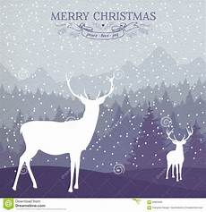 merry christmas winter card holiday deer background stock vector image 60829562