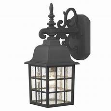 norfolk wall lantern down black